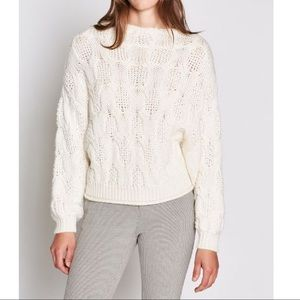 NWT $348 Joie Sz M Cable Dolman Sweater